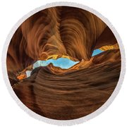 Wavy Round Beach Towel