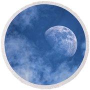 Waxing Blue Moon Round Beach Towel