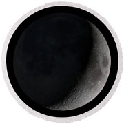 Waxing Crescent Moon Round Beach Towel