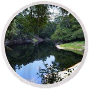 Way Down Upon The Suwannee River Round Beach Towel