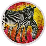 Way Out Of Africa Round Beach Towel