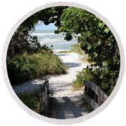 Way To The Beach Round Beach Towel by Christiane Schulze Art And Photography