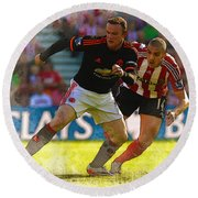 Wayne Rooney Is Marshalled Round Beach Towel by Don Kuing