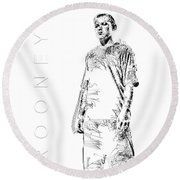 Wayne Rooney Round Beach Towel by ISAW Gallery