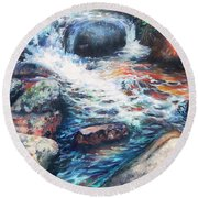Wayside Brook Round Beach Towel