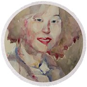 Wc Portrait 1628 My Sister Hyunsook Round Beach Towel