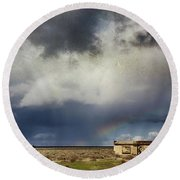 Round Beach Towel featuring the photograph We All Need A Little Hope by Laurie Search
