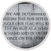 We Are Determined...... Round Beach Towel