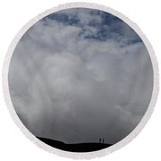 We Are Small Round Beach Towel
