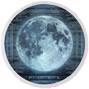 We Choose To Go To The Moon Round Beach Towel