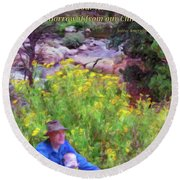 We Do Not Inherit The Earth - V2 Round Beach Towel