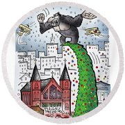 King Kong Kristmas Round Beach Towel