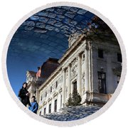 We Have Always Lived In The Castle Round Beach Towel