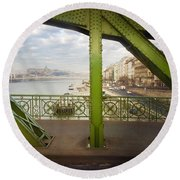We Live In Budapest #4 Round Beach Towel