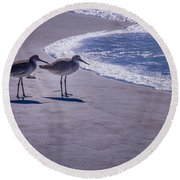 We Stand Together Round Beach Towel