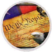We The People Round Beach Towel