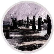 Round Beach Towel featuring the photograph We Will Be Trees by Helga Novelli