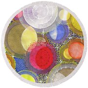 Round Beach Towel featuring the painting We Will Have Many Moons #2 by Kym Nicolas