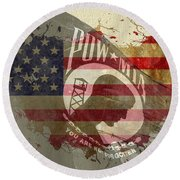 We Will Remember You Round Beach Towel