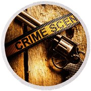 Weapon Forensics Round Beach Towel