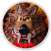 Wearwolf Cake Round Beach Towel by Garry Gay