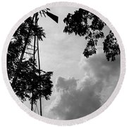 Weather Watcher Round Beach Towel