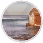Weathered In Time Round Beach Towel by Az Jackson