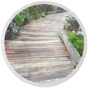 Weathered Path Round Beach Towel