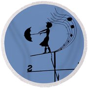 Weathergirl Round Beach Towel