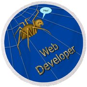 Web Developer Round Beach Towel