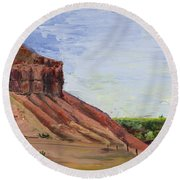 Round Beach Towel featuring the painting Weber Sandstone by Jane Autry