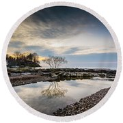 Webster Ny Lake View Round Beach Towel