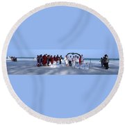 Wedding Complete Panoramic Kenya Beach Round Beach Towel