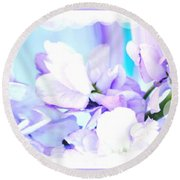 Wedding Flower Pedals Round Beach Towel