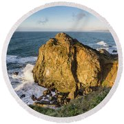 Wedding Rock Evening Light Round Beach Towel