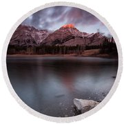 Wedge Pond Dawn Round Beach Towel