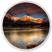 Wedge Pond Sunpeaks Round Beach Towel