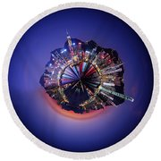 Wee Hong Kong Planet Round Beach Towel by Nikki Marie Smith