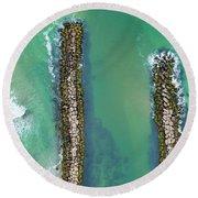 Weekapaug Breachway Round Beach Towel