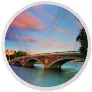 Weeks' Bridge Round Beach Towel by Rick Berk