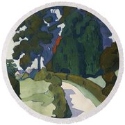 Weeping Ash, 1923  Round Beach Towel