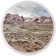 Weird Rock Formation Round Beach Towel by Peter J Sucy