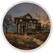 Round Beach Towel featuring the photograph Welcome Home by Aaron J Groen