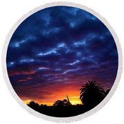 Round Beach Towel featuring the photograph Welcome The Night by Mark Blauhoefer