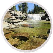 Round Beach Towel featuring the photograph Welcome To Dog's Dreams by Sean Sarsfield