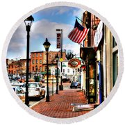 Welcome To Fells Point Round Beach Towel