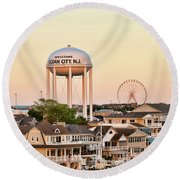 Welcome To Ocean City, Nj Round Beach Towel