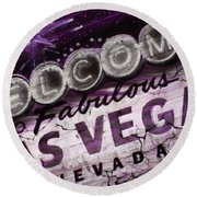 Vegas Baby Round Beach Towel by Dani Abbott