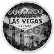 Welcome To Vegas Xiv Round Beach Towel
