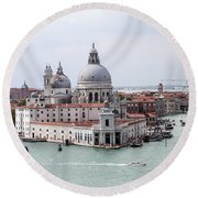 Welcome To Venice Round Beach Towel